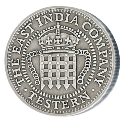 The Testern Silver coin with antique effect obverse