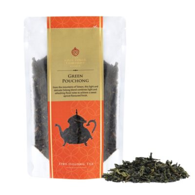 Green Pouchong 50g Front + Leaf