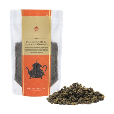 Pomegranate & Hibiscus Oolong Prepack 100g with Tea Leaf