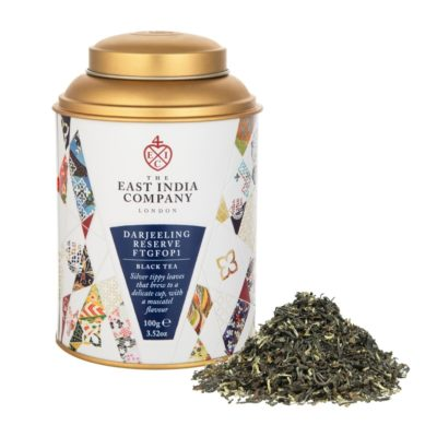 Darjeeling Reserve Caddy Front + Product