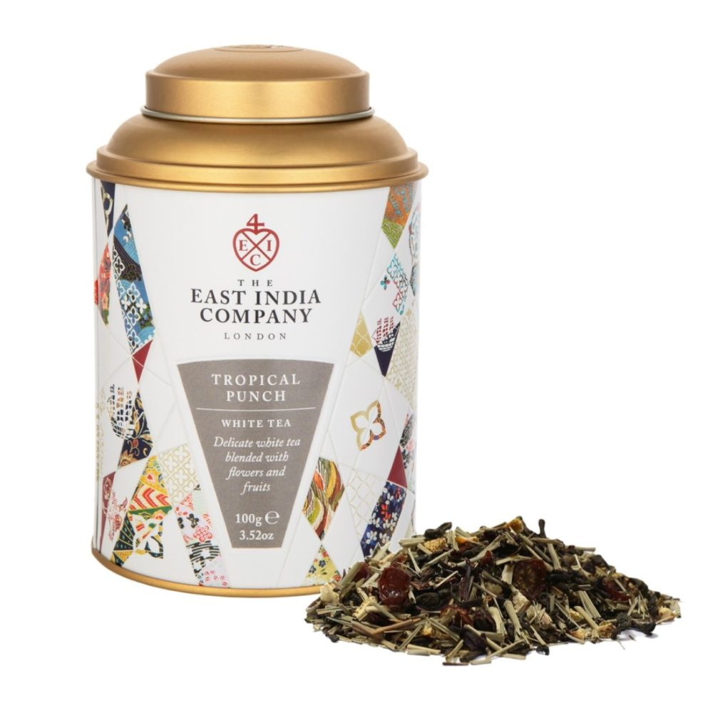Tropical Punch Blend 68 White Tea Caddy Front + Product