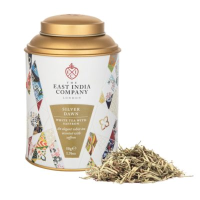 Silver Dawn White Tea with Saffron Front + Product