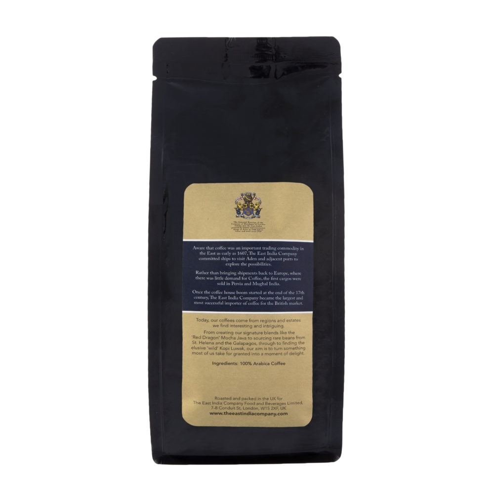 Nepal Mount Everest Supreme Coffee Beans BACK Label