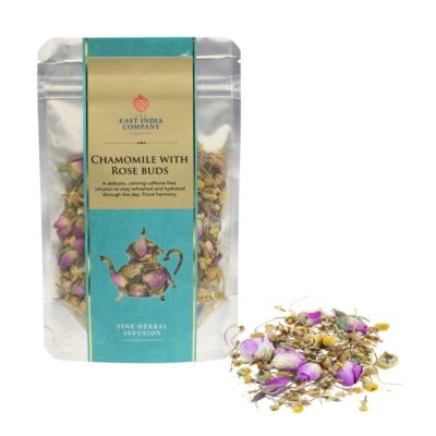 Chamomile with Rose Buds 50g Front + Product