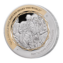Gandhi Fine Silver Coin 3 of 5
