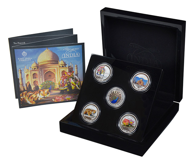 Treasures of India Fine Silver Coin Set