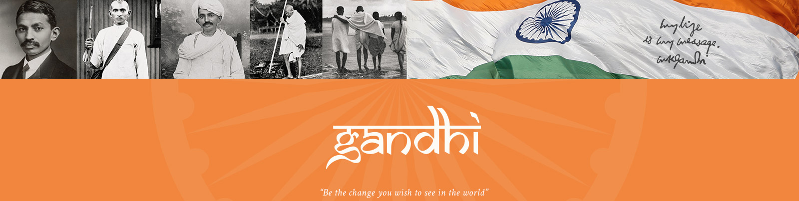 Gandhi Fine Silver Coin Set, Be the Change you Wish to See in the World