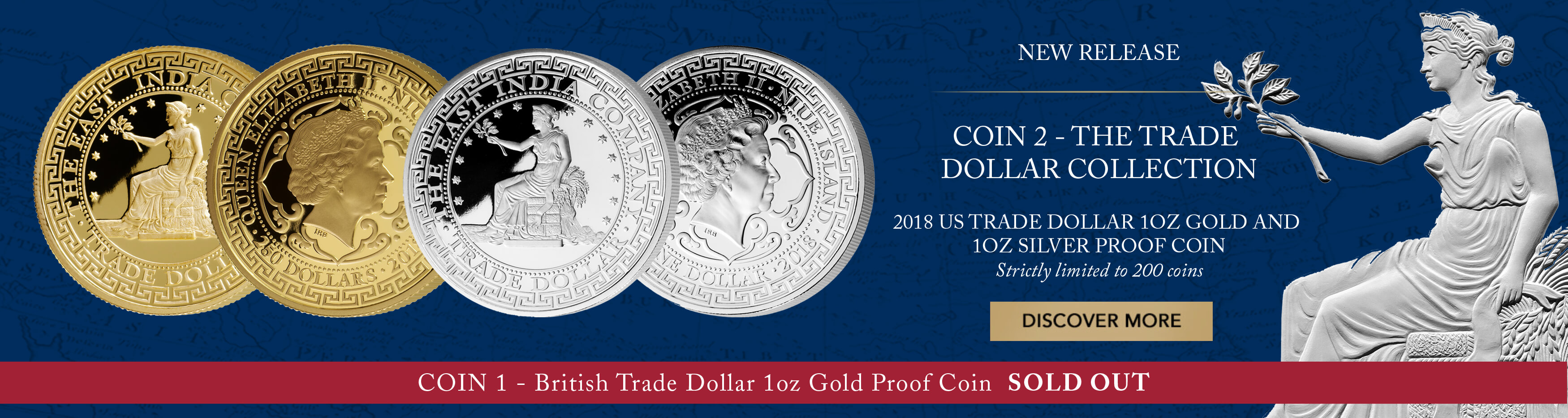 2018 US TRADE DOLLAR 1OZ SILVER PROOF COIN