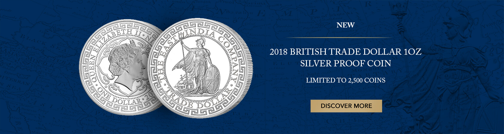 2018 BRITISH TRADE DOLLAR 1OZ SILVER PROOF COIN