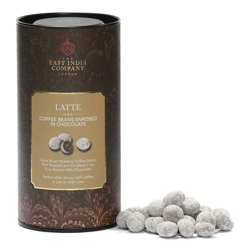 Milk Chocolate Enrobed Latte Coffee Beans | The East India ...