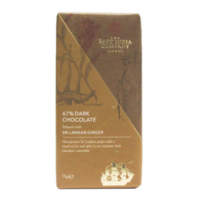Dark Chocolate Bar with Sri Lankan Ginger