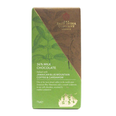 Milk Chocolate Bar with Jamaican Blue Mountain Coffee and Cardamom