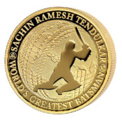 Sachin Tendulkar Reverse Gold Proof Coin
