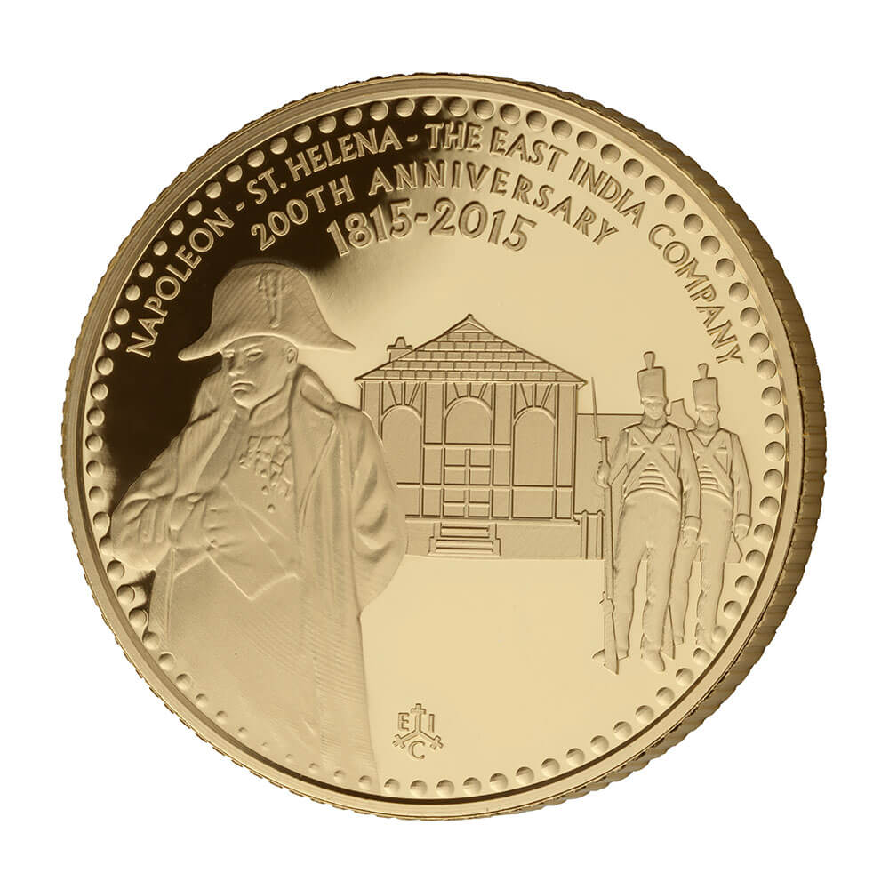 200th Anniversary of the exile of Napoleon to St Helena Gold Coin