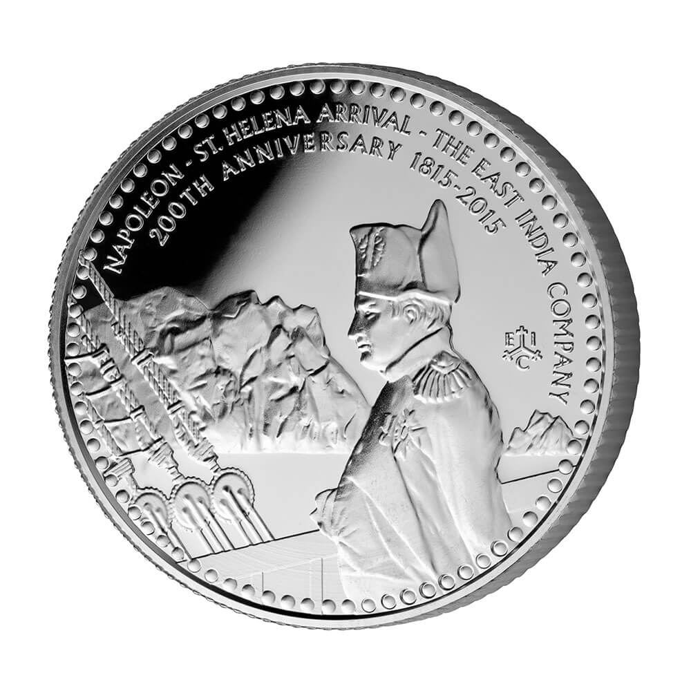 200th Anniversary of the arrival of Napoleon to St Helena Silver Coin