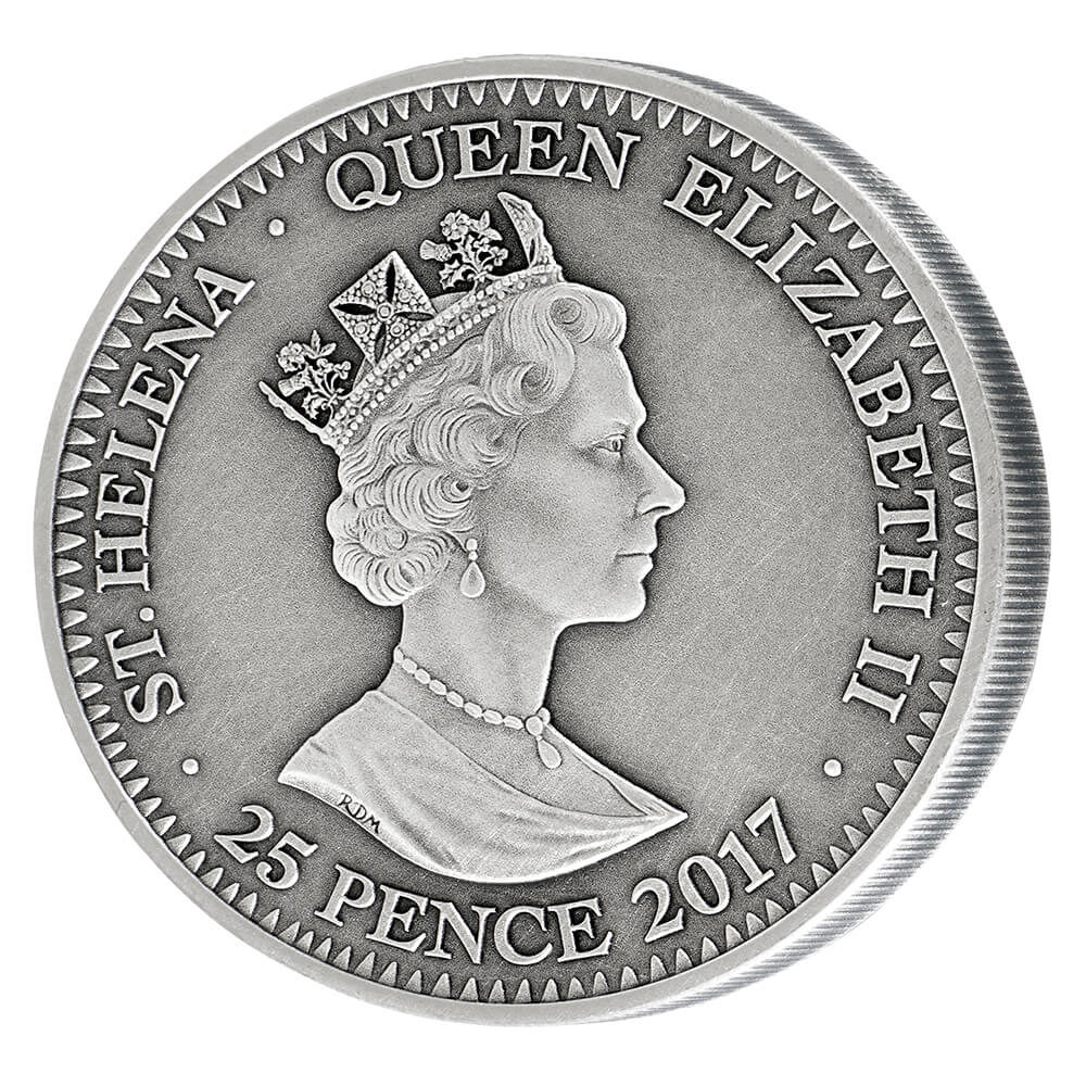 The Testern Silver coin with antique effect - only the second ever issue in history - reverse