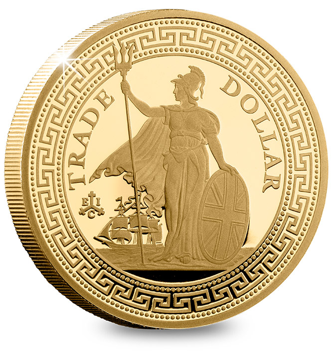2019 British Trade Dollar 1/4oz Gold Proof Coin