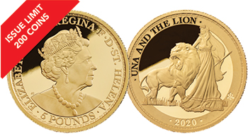 2020 Una & the Lion 1oz Gold Proof