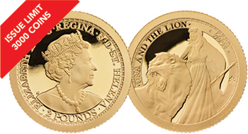 2020 Una & the Lion 1/2g Gold