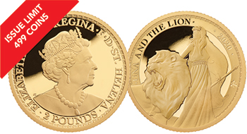 2020 Una & the Lion 1/4oz Gold