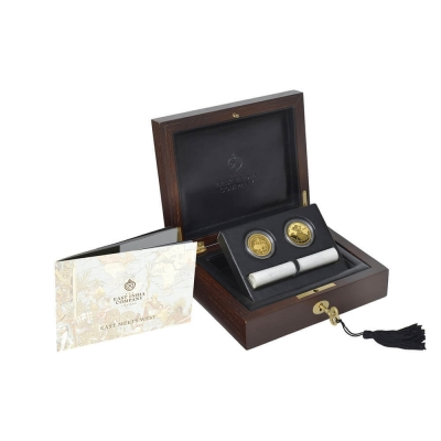 2015 Coins that built an Empire - Mohur and Guinea two gold proof coin set