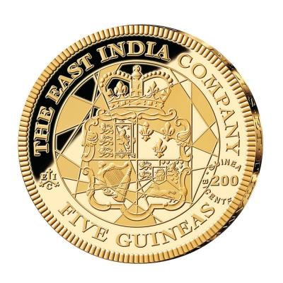 2016 Five Guinea Gold Proof Coin